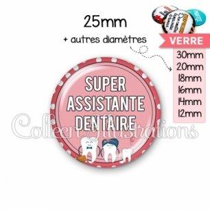 Cabochon en verre Assistante dentaire (012ROS01)