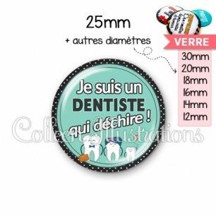 Cabochon en verre Dentiste qui déchire (012VER01)