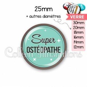 Cabochon en verre Super osthéopathe (012VER01)