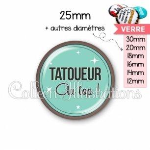 Cabochon en verre Tatoueur au top (012VER01)