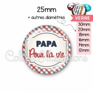 Cabochon en verre Papa pour la vie (013MUL01)