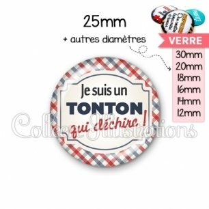 Cabochon en verre Tonton qui déchire (013MUL01)