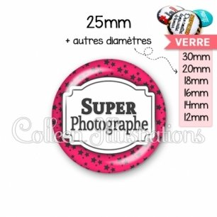 Cabochon en verre Super photographe (013ROS02)
