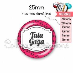 Cabochon en verre Tata gaga (013ROS02)