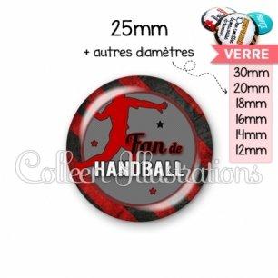 Cabochon en verre Fan de handball (016MUL05)