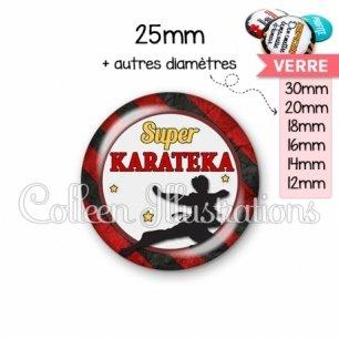 Cabochon en verre Super karateka (016MUL14)
