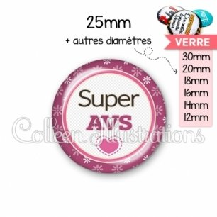 Cabochon en verre Super AVS (016VIO01)