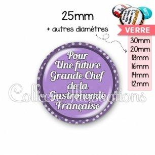 Cabochon en verre Future grande chef de la gastronomie (016VIO03)