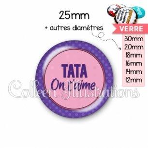 Cabochon en verre Tata on t'aime (016VIO04)