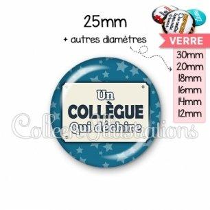 Cabochon en verre Collègue qui déchire (018BLE01)
