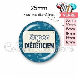 Cabochon en verre Super diététicienne (018BLE01)