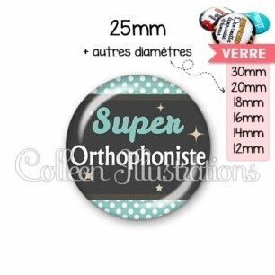 Cabochon en verre Super orthophoniste (019BLE03)