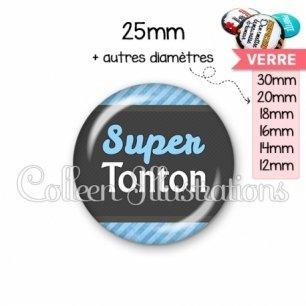 Cabochon en verre Super tonton (019BLE05)