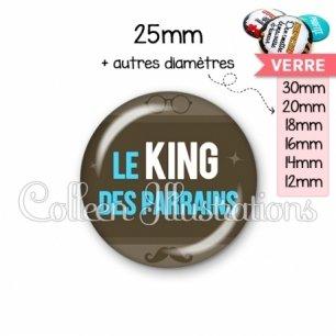 Cabochon en verre Le king des parrains (019MAR01)