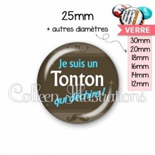 Cabochon en verre Tonton déchire (019MAR01)