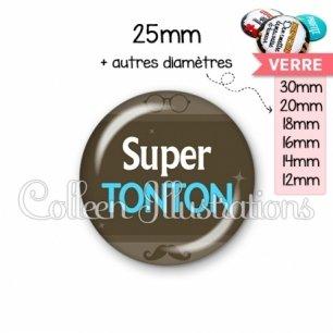 Cabochon en verre Super tonton (019MAR01)