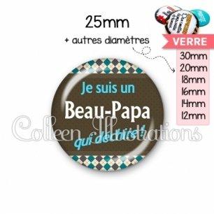 Cabochon en verre Beau-papa qui déchire (019MUL01)