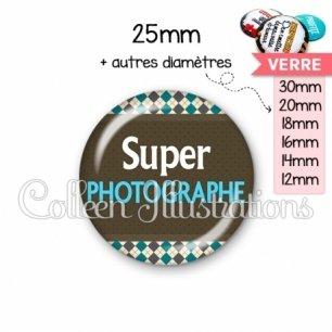 Cabochon en verre Super photographe (019MUL01)