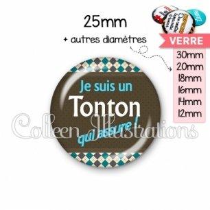 Cabochon en verre Tonton qui assure (019MUL01)