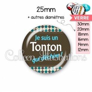 Cabochon en verre Tonton qui déchire (019MUL01)