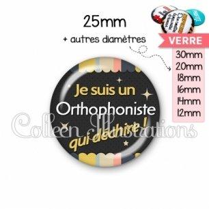 Cabochon en verre Orthophoniste qui déchire (019MUL04)