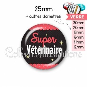 Cabochon en verre Super vétérinaire (019ROS05)