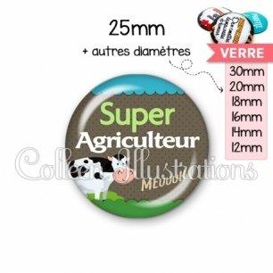 Cabochon en verre Super agriculteur (019VER01)