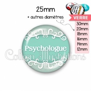 Cabochon en verre Psychologue (021VER01)