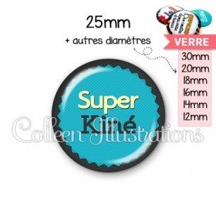 Cabochon en verre Super kiné (024BLE02)