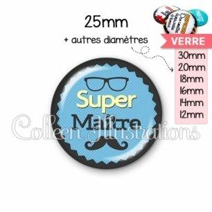 Cabochon en verre Super maître (024BLE04)