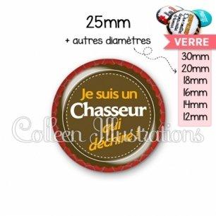 Cabochon en verre Chasseur qui déchire (024MAR01)