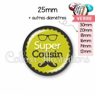 Cabochon en verre Super cousin (024VER01)
