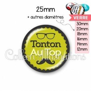 Cabochon en verre Tonton au top (024VER01)