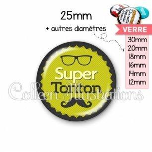 Cabochon en verre Super tonton (024VER01)