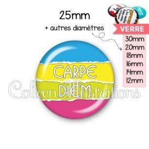 Cabochon en verre Carpe Diem (025MUL03)