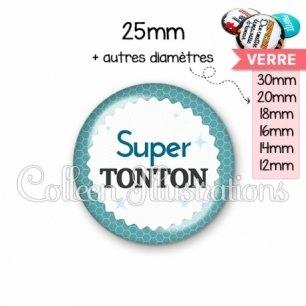 Cabochon en verre Super tonton (028BLE02)