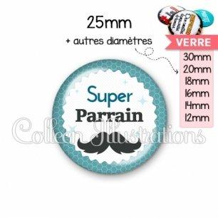 Cabochon en verre Super parrain (028BLE04)