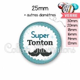 Cabochon en verre Super tonton (028BLE04)