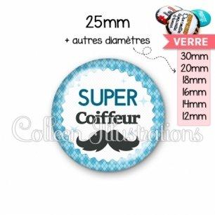 Cabochon en verre Super coiffeur (028BLE06)