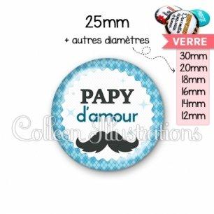 Cabochon en verre Papy d'amour (028BLE06)