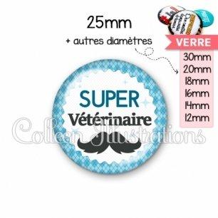 Cabochon en verre Super vétérinaire (028BLE06)