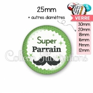 Cabochon en verre Super parrain (028VER01)