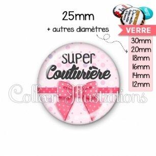 Cabochon en verre Super couturière (029ROS01)