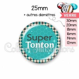 Cabochon en verre Super tonton (030VER01)