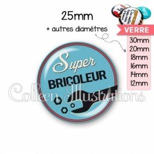 Cabochon en verre Super bricoleur (032BLE02)