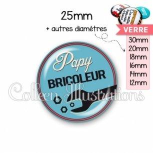 Cabochon en verre Papy bricoleur (032BLE02)