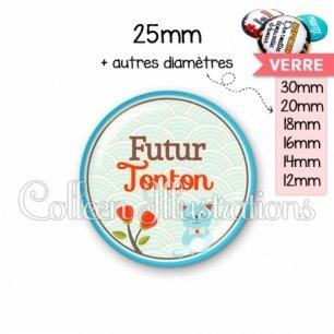 Cabochon en verre Futur tonton (032VER02)