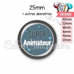 Cabochon en verre Super animateur (034BLE01)