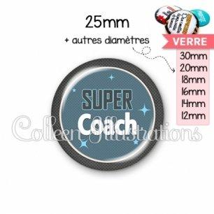 Cabochon en verre Super coach (034BLE01)