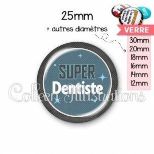 Cabochon en verre Super dentiste (034BLE01)